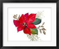 Bright Poinsettia I Framed Print