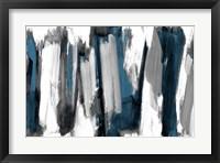 Silver And Dark Rhythm II Framed Print