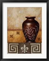 Mahogany Urn I Framed Print