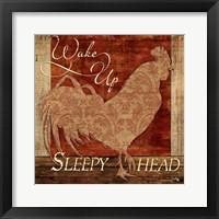 Wake Up Sleepy Head Framed Print
