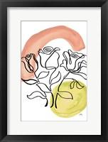 Modern Floral Line II Framed Print