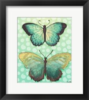 Butterfly Duo in Teal Framed Print