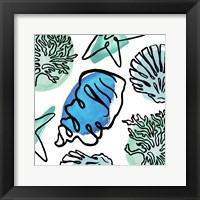 Coastal Contours Fusion III Framed Print