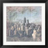 Chicago Skyline II Framed Print