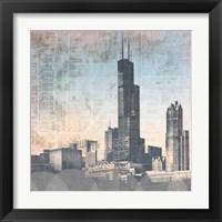 Chicago Skyline I Framed Print