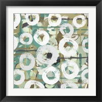 White Spheres I Framed Print