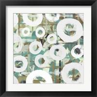 White Spheres II Framed Print