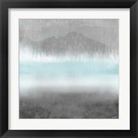 Foggy Loon Lake II Framed Print