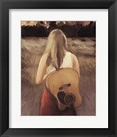 Framed Traveling With My Guitar