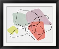 Framed Watercolor Abstract Sketch