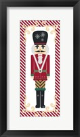 Nutcracker On Red Stripe II Framed Print