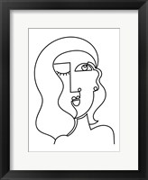 Framed Loopy Line Lady II