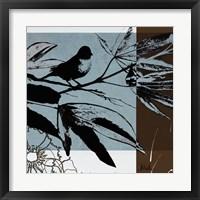 Blue & White Silhouette I Framed Print