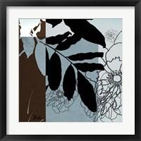 Blue & White Silhouette II Framed Print