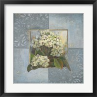 Hydrangeas on Blue II Framed Print