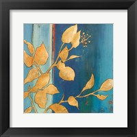 Framed Golden Blue I