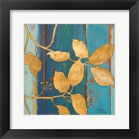 Framed Golden Blue II