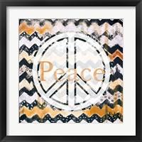 Framed Peace Zig Zag