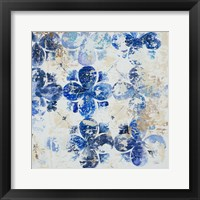 Framed Blue Quatrefoil I