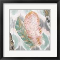 Framed Ikat Feathers II