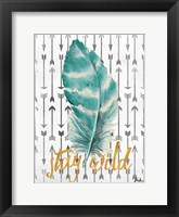 Framed Stay Wild Feather