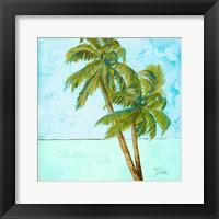 Beach Palm Blue I Framed Print