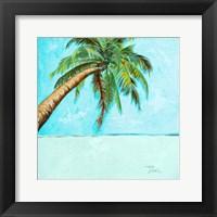 Beach Palm Blue II Framed Print
