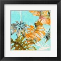 Framed Palma Selvas on Blue I