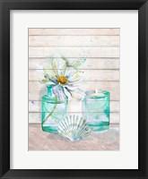 Fresh Flowers and Shells I Framed Print