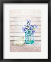Framed Fresh Flowers And Shells II