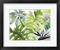 Framed Green Palms Selva I