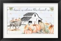 Framed Pumpkin Barn