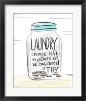 Framed Laundry Tip Jar