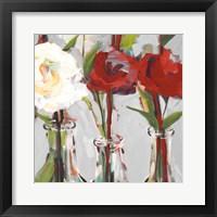 Framed Red Romantic Blossoms I
