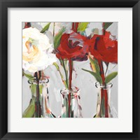 Red Romantic Blossoms I Framed Print