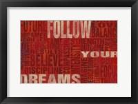 Framed Follow Your Dreams