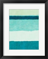 Framed Rectangle Teal Blocks of Color II
