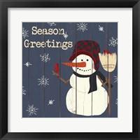 Cardinals And Snowmen II Framed Print