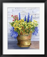 Framed Mixed Flowers in Pot