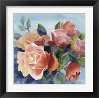 Framed Roses in Blue