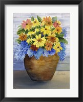 Framed Yellow and Blue in Pot