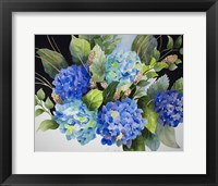 Framed Hydrangeas in Blue