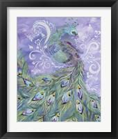 Framed Whimiscal Peacock 2