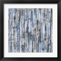 Framed Boho Tie Dye Cool Water pattern