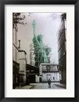 Framed Lady Liberty Construction 1885