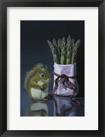 Framed Squirrel And Asparagus