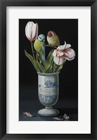 Framed Apothecary Vase And Tulips
