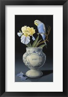 Framed Blue Parakeet