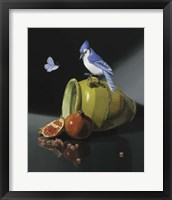 Framed Jay In Provencal Pot
