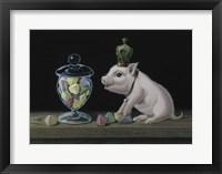 Framed Piglet With The Berlingots